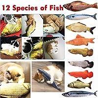 12 Style 3D Artificial Cat Catnip Toys Fish Plush Dog Pillow Pet Cat Dog Chew Scratch Pillow Toys Sleeping Cushion