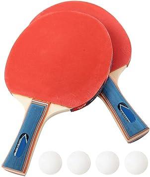 Gerioie Taco de tênis de mesa com cabo ergonômico, Taco de pingue-pongue profissional prático, raquete de pingue-pongue, raquete de tênis de mesa, para acessórios de exercício de treinamento físico (aderência para caneta)