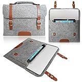Love My Case Gris claro 33,78 cm/33,02 cm fieltro portátiles/portada/Bolsa con asa para Sony VAIO Duo con 5 x incluye bayetas