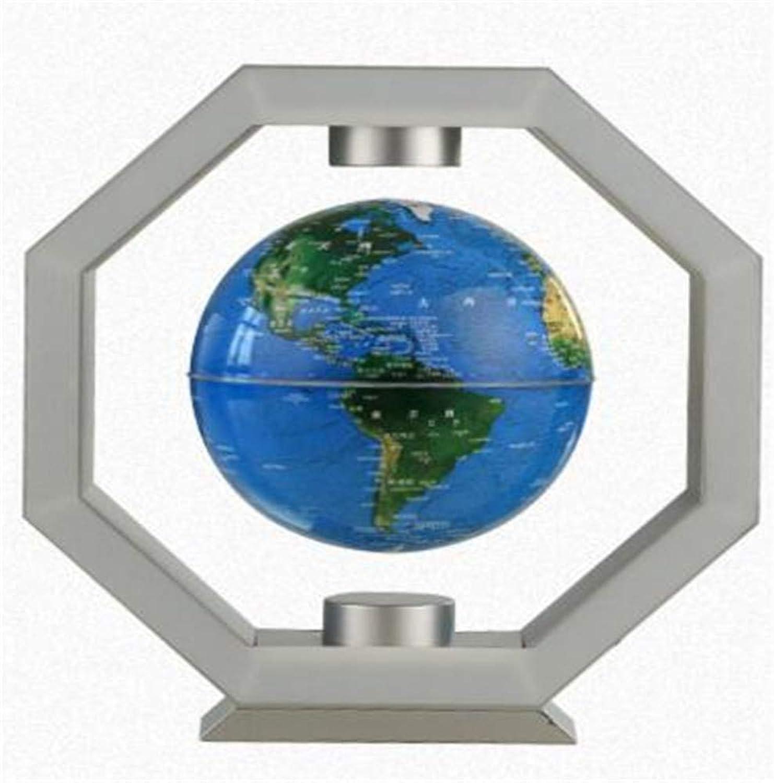 Globus, Polygon Maglev Handwerk Dekoration Raumdekoration kreatives Geschenk 6 Zoll (Farbe   Silber)