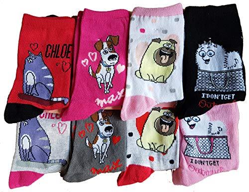 Mädchen-Socken, multifunktional, Hello Kitty, Snoopy, Soy Luna, wie Petes. Aus Baumwolle – verschiedene Modelle für Fotos je nach Verfügbarkeit Gr. 27-30, Set mit 3 Asst1 wie Babys.