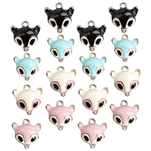 HEALLILY 40pcs Little Foxes Charms Pendants Ankle Earring Pendants for DIY Crafts Bracelet Earring Necklace Jewellery Making