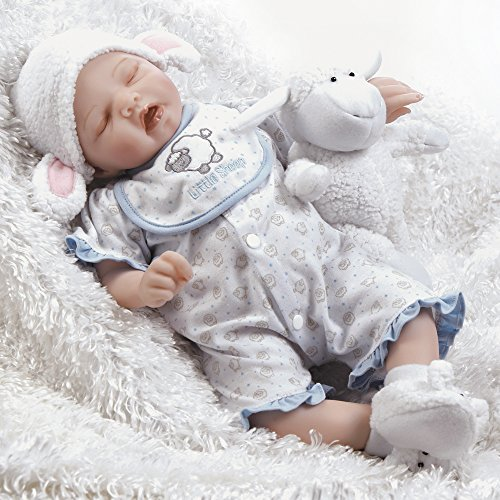 Paradise Galleries Newborn Baby Doll, Sweet Dreams Mary, Musical Ensemble, 19 inch Silicone Like Flex-Touch Vinyl by Paradise Galleries