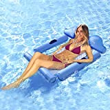 Seven-first Inflatable Pool Float with Headrest, Backrest and Footrest, Multi-Purpose Inflatable Hammock (Saddle, Lounge Chair, Hammock, Drifter), Water Hammock Safety Detachable & Easy to Carry
