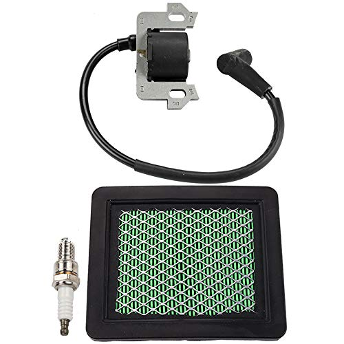 Ignition Coil Module Air Filter Spark Plug Parts Kit for Honda GC135 GC160 GC190 GS160 GS190 GCV135 GCV160 GCV190 GSV160 GSV190 Engine Motor Craftsman Push Mower Pressure Washer Troybilt
