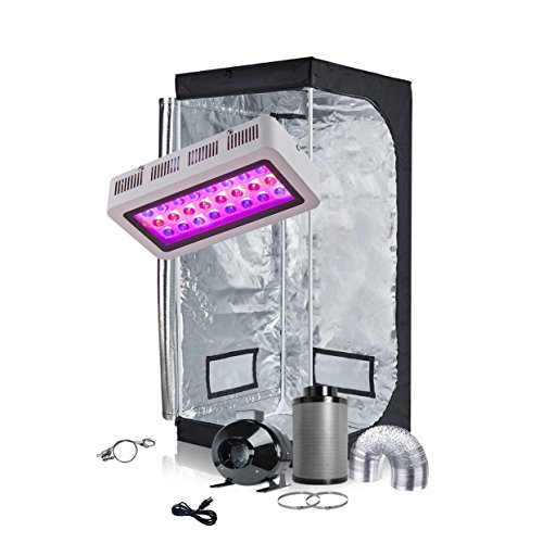 TopoGrow LED Grow Tent Complete Kit LED 300W Grow Light Kit Panel Lamp Full-Spectrum+32'X32'X63'...