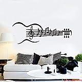 zxddzl Notas de la música Vinilo Tatuajes de Pared Guitarra Instrumentos Musicales Notas de la música Pegatinas de Pared Extraíble Mural Wallpaper para el Dormitorio 56X150CM