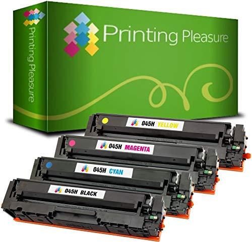 4 Toner kompatibel für 045H Canon i-Sensys MF633Cdw, MF635Cx, LBP611Cn, LBP613Cdw, MF631Cn, imageCLASS MF632Cdw, MF634Cdw, LBP612Cdw - Schwarz/Cyan/Magenta/Gelb, (BK 2.800 & C/M/Y 2.200 Seiten)