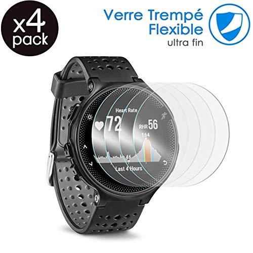 KARYLAX [Pack x4] Protector de pantalla para reloj inteligente película de vidrio Nano Flexible irrompible Dureza 9H, Ultra Fin 0,2 mm y 100% Transparente para Diesel Axial (DT2014/DT2015) 48