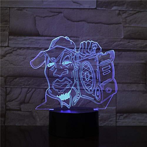 Linterna mágica 3D luz de noche LED Notre Dame de Paris visual touch USB lámpara de mesa decoración de los niños mejor regalo de cumpleaños para niños