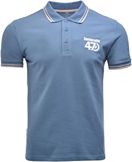 dd8a1f19819 Lambretta Twin Tipped Collar 47 Logo Mens Polo Shirts