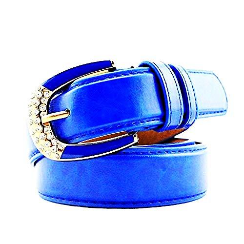 Lovelegis Cinturón para mujer - azul eléctrico - para jeans - piel...