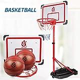 LYH Tragbarer Basketballkorb, höhenverstellbarer, höhenverstellbarer Basketballständer mit Rädern, für Jugendliche, Kinder, Jugendliche, Indoor