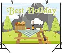 新しい250×180cm BeHolidayの背景ピクニック写真の背景引退旅行パーティー誕生日バナーYouTube LHST382