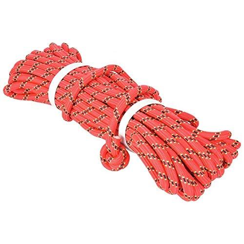 IGOSAIT Stark 10M / 32ft im Freien Rettungs Klettern Seil Sicherheit Flucht Seil for Berg Überleben Ausrüstung Outdoor-Klettern Werkzeug Dauerhaft (Color : Red)