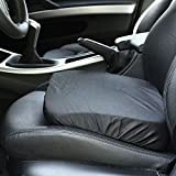 Bandwagon Adult/Driver Car Booster Seat for Visibility - Soft Comfortable Black Poly Cover
