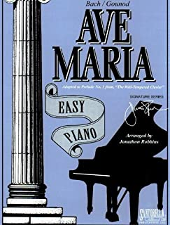 Ave Maria For Easy Piano / Bach - Gounod Edition