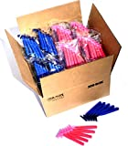 200 Box Combo of Blue and Pink Razor Blades Disposable Stainless Steel Hospitality Quality Shavers High End Twin Blade Razors for Men and Women with Aloe Vera Lubrication Strip