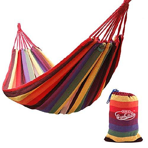 Hamac/Canvas couleur bar hamac/Outdoor loisirs swing camping endormi balançoire/porteur d'environ 400 livres (200 cm * 150 cm)