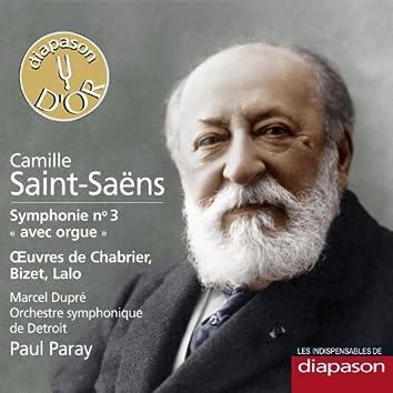 Saint-Saëns: Symphonie No. 3 - Œuvres de Chabrier, Bizet & Lalo (Les indispensables de Diapason)