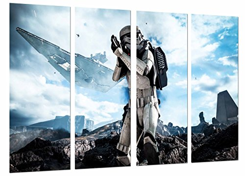 Cuadro Fotográfico Star Wars Ejercito Darth Vader, Batalla Nave, Rougue One Tamaño total: 131 x 62 cm XXL