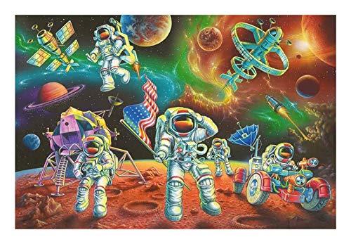 ZGPTOP Rompecabezas Planeta Astronauta Creativo Hecho a Mano Adulto Excelente descompresión de descompresión Juguetes de Madera Rompecabezas 300/500/1000/1500 Piezas (Size : 300P)