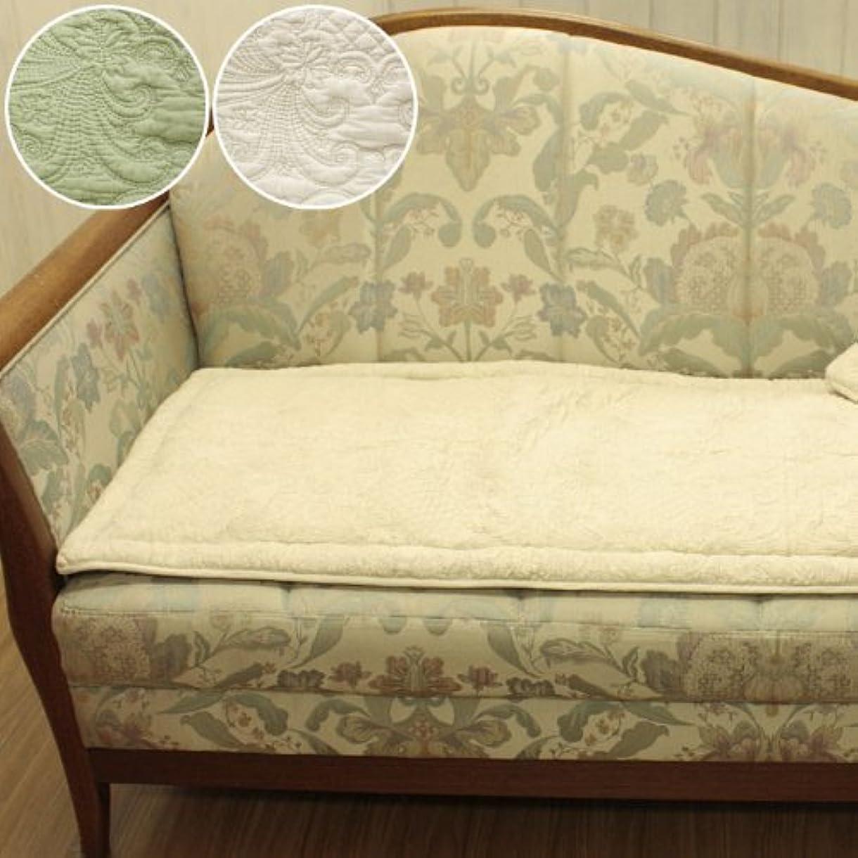 保護感動する寝具多針キルトロングシートクッション 約47x117cm ベージュ