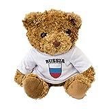 London Teddy Bears Oso de Peluche con la Bandera de Rusia – Regalo Ruso para fanático de Rössyyсkаement