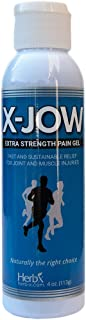 X-Jow Pain Relief Therapy with Turmeric. Natural Anti Inflammatory Topical Pain Reliever for Arthritis, Knee Pain, Back Pain, Neck Pain, Muscles and Joint Stiffness and Injuries