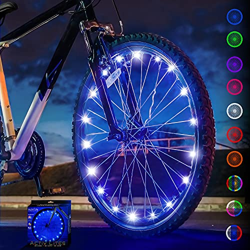 Activ Life Bike Wheel Lights (1 Tire, Blue) Best Birthday Gifts for Boys, Men & Teens - Stocking Stuffers 5 6 7 8 9 10 11 12 Year Old. Top Unique 2021 Christmas Ideas for Him, Dad, Brother, Uncle