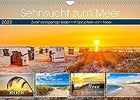 Sehnsucht zum Meer (Wandkalender 2022 DIN A4 quer): Fantastische Bilder von der Nordsee mit Spruechen vom Meer (Monatskalender, 14 Seiten )