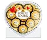 ferrero rocher heart shaped gift box, 8 count, individually wrapped fine milk chocolate hazelnut