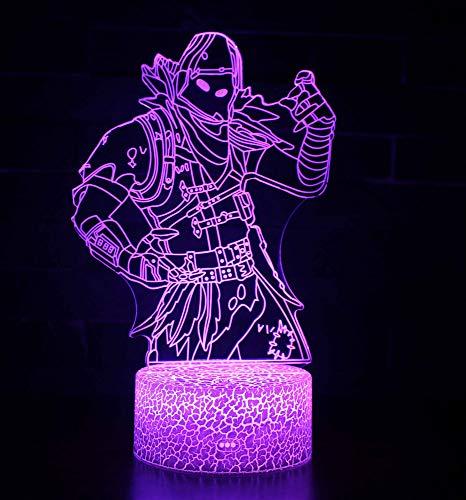 3D LED Lampe Nachtlicht, CKW 7 Farben Wählbar Dimmbare Touch Schalter Nachtlampe für Kinder Weihnachten Geburtstag beste Geschenk Spielzeug (Raven 1)