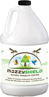 Mozzyshield - Natural Mosquito Control - Ultra Concentrated - 1 Gallon Makes 32 Gallons of Garlic Mosquito and Pest Barrier Fluid