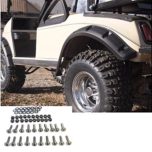 Huskey Club Car DS Fender Flares with Stainless Steel Hardware