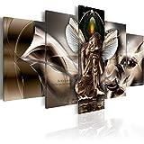 murando Cuadro en Lienzo Buda 100x50 cm Impresión de 5 Piezas Material Tejido no Tejido Impresión Artística Imagen Gráfica Decoracion de Pared Oriente Zen Cascada h-A-0008-b-n