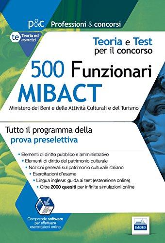 Concorso 500 Funzionari MIBACT