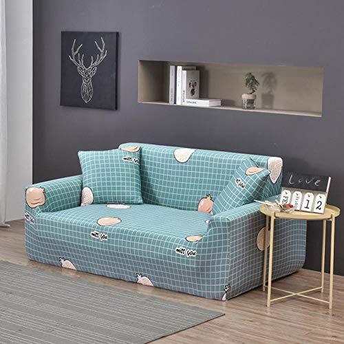 Funda Elástica para Sofá 4 plazas 1 Uds, Fundas elásticas para sofá, Funda de sofá para Sala de Estar, Protector de Silla seccional en Forma de L de Esquina Q