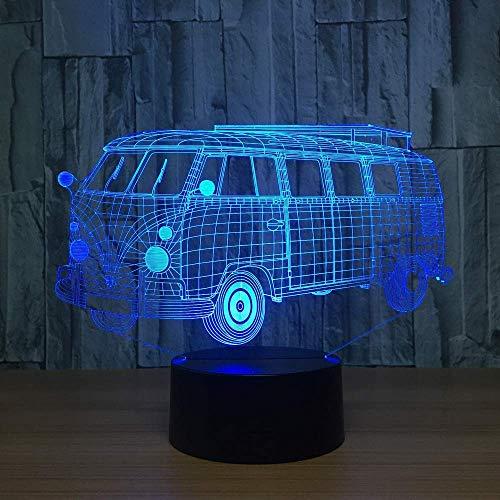 AI LI WEI nachtlampje, 7 kleuren, lamp, creatief, kantoor, woondecoratie, slaapkamer, kinderen, vakantie, geschenken, camping, bus