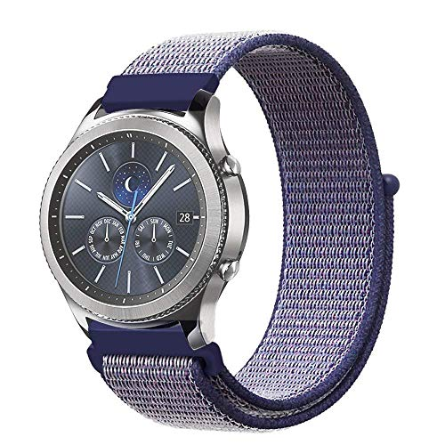 L@LILI Banda para Samsung Gear S3 Frontier y Classic, 22mm QuickFit de Repuesto de Nylon Correa de Tela Sport Loop Wristband para Huawei Watch 2 Classic,5