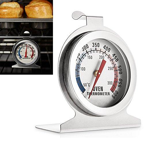 AVESON Ofenthermometer aus Edelstahl zur Überwachung der Temperaturanzeige für Zuhause, Küche, zum Aufhängen oder Stellen im Ofen