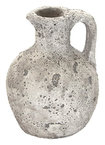 Deko-Gefäß Amphore 23cm weiß-grau