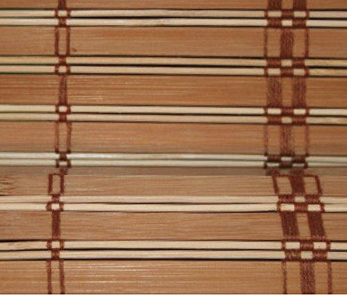 VERDELOOK Africa, Tapparella in Listelli di Bamboo, 100x160 cm, Marrone Chiaro