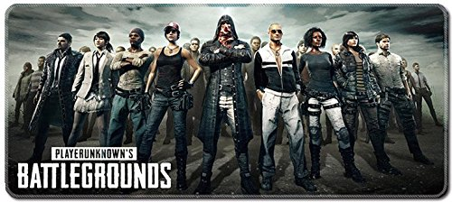 SMAIGE XXL Extended Gaming Mouse Mat/Pad - Large, Wide (Long) Mousepad, Stitched Edges | 31.5'x11.8'x0.12' Dimensions (PUBG)