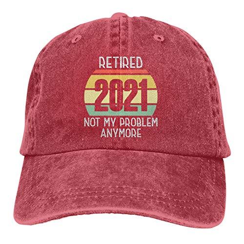 Retired 2021 Not My Problem Anymore-13 - Gorra de béisbol ajustable y lavable para hombre y mujer
