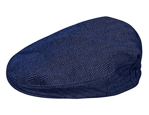 mintgreen Infantil Tapas Planas Sombrero de Espiga de Tweed (Azul Real, 54cm/4-5 Años)