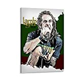 gongxin Randy Blythe Lamb of God Famous Singer Poster Canvas Art Poster and Wall Art Picture Print Modern Family Bedroom Decor Posters 24x36inch(60x90cm)