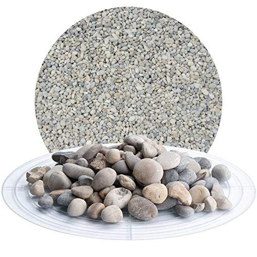 Schicker Mineral Isarkies 25 kg bunter Heller Zierkies, natürlich gerundeter Flusskies in 8-16 mm, 16-32 mm (8-16 mm)