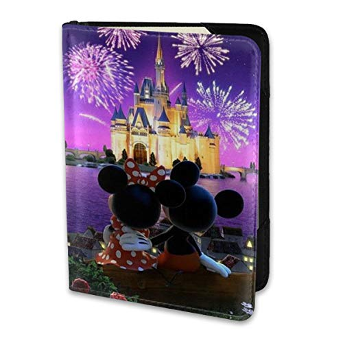 Passport Holder Cover Case Minnie And Mickey Mouse Leather Travel Wallet For Women And Men