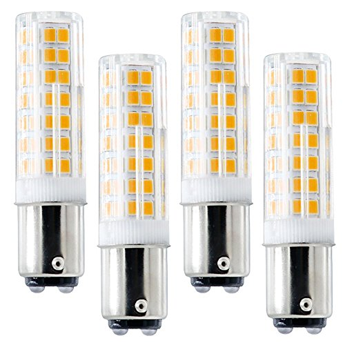 Ba15d LED Bulb, New (88LEDs), Ba15d Double Bayonet Base, 6W 120v 60W Equivalent, Dimmable Sewing Machine Lamp (Pack of 4) (BA15D Warm White 3000K)